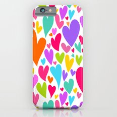 Cute colorful heart Slim Case iPhone 6s