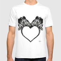Zebra Love Mens Fitted Tee White SMALL
