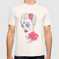Sugar Skull Water Colour… Mens Fitted Tee Natural SMALL