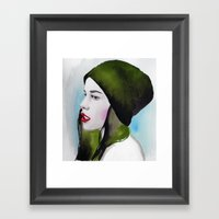 Green Lady Framed Art Print