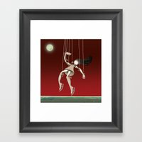Falling Framed Art Print