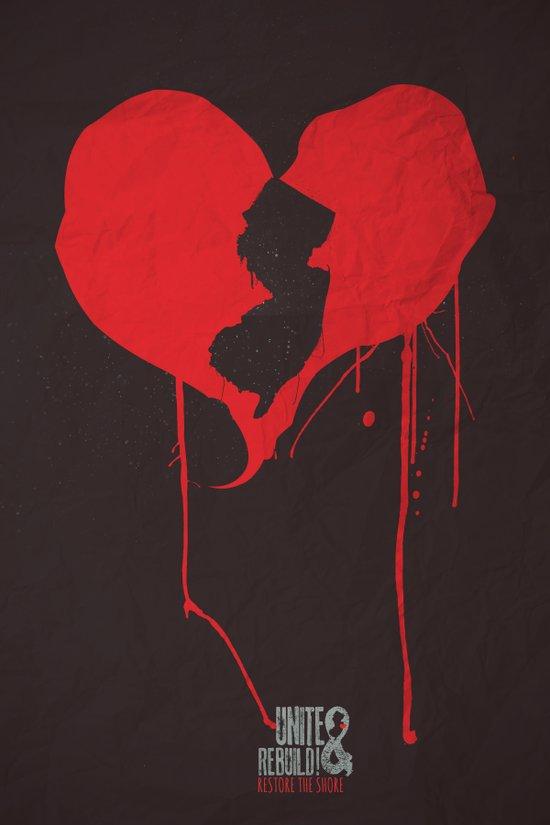 My heart is in NJ Unite & Rebuild! Art Print