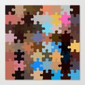 Another Puzzle Canvas Print