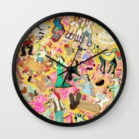 Decoupage Unicorns Wall Clock