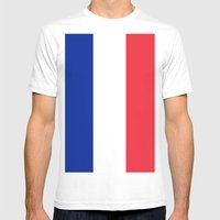 France / French Flag / Drapeau Mens Fitted Tee White SMALL