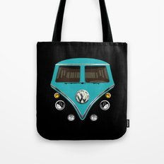 Sale for charity! Blue teal VW volkswagen mini van bus kombi camper iphone 4 4s 5 & galaxy s4 case Tote Bag