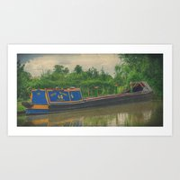 Narrow boat Cassiopeia Art Print