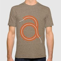 A for Awesome! Mens Fitted Tee Tri-Coffee SMALL