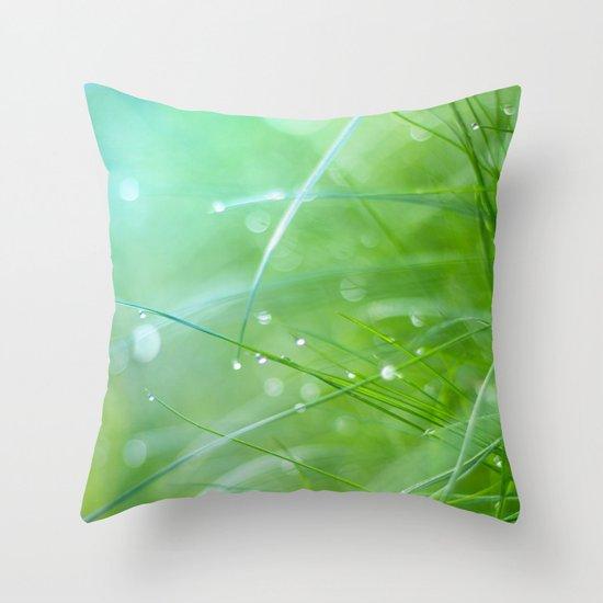 grass light Throw Pillow