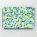 Watercolor Dots_Aqua by Jacqueline and Garima iPad Case