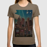Las Vegas New York New York.!  Womens Fitted Tee Tri-Coffee SMALL