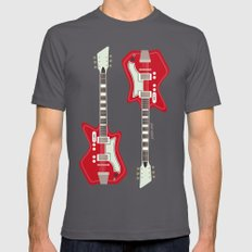 Airline Guitar Mens Fitted Tee Asphalt SMALL