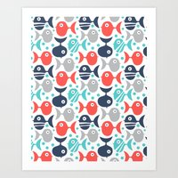 School Of Fish Art Print