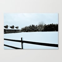 Touched by Snow Canvas Print