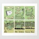 Dinosaur Poem Art Print