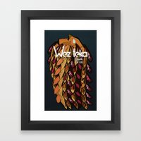 WEZTEKA TRIBAL WARRIOR Framed Art Print