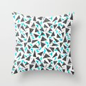 Missy - 80s Retro, Throwback Memphis Inspired Design Throw Pillow