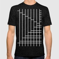 Fuzz Outline Grey Mens Fitted Tee Tri-Black SMALL