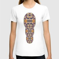 Gaudy Gaudi orange & purple Womens Fitted Tee White SMALL