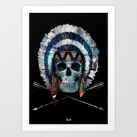 indian Art Prints featuring Indian by Guilherme Rosa // Velvia