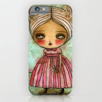 iPhone & iPod Case featuring Dandelion Girl in Red And Pink by Danita Art