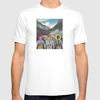 MOUNTAIN ANATOMY Mens Fitted Tee White SMALL