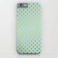 Mint And Gold Dots Patte… iPhone 6 Slim Case