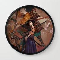 The Spirit of Tomoe Gozen Wall Clock