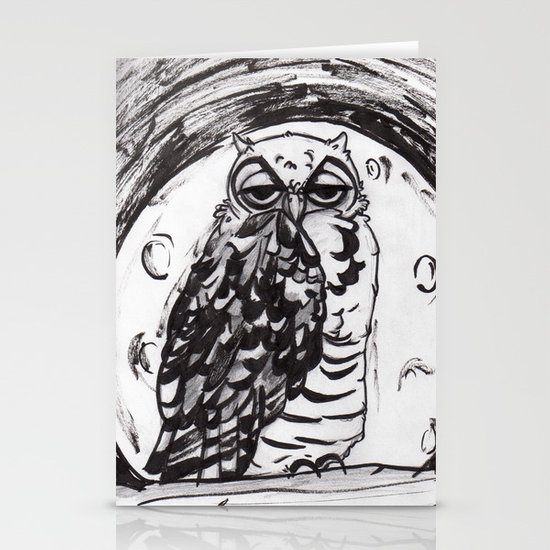 Night Owl v.1 Stationery Card