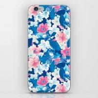 Bloom Blue iPhone & iPod Skin