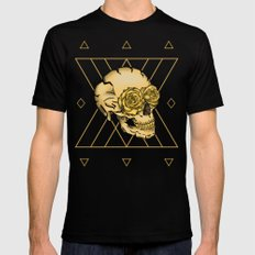 Golden Skull composition  SMALL Mens Fitted Tee Black