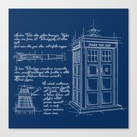Plan Tardis Canvas Print