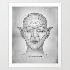 Vampire Phrenology Art Print