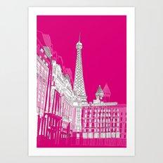 Glorious Paris - Pink Art Print