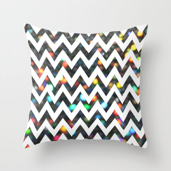 Chevron Sparkles Throw Pillow