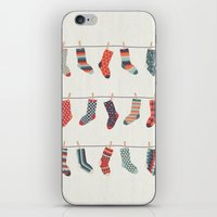 Don't Waste Time Matching Socks iPhone & iPod Skin