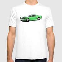 Ford Mustang Coupe (1966… Mens Fitted Tee White SMALL