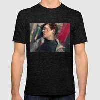 Khan Mens Fitted Tee Tri-Black SMALL