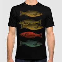 One fish Two fish Mens Fitted Tee Black SMALL