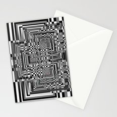 Pixel Shadow Stationery Cards