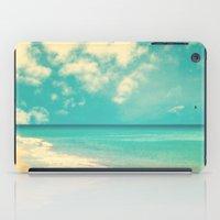 Waves of the sea (retro beach and blue sky) iPad Case