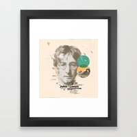 John Lenon-imagine Framed Art Print