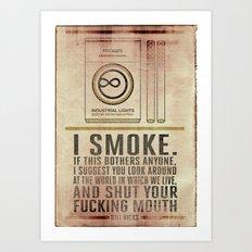 Smoking Bill Hicks… Art Print