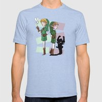 The Fairy and The Imp Mens Fitted Tee Tri-Blue SMALL