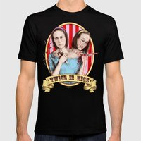 Tattler Twins (color) Mens Fitted Tee Black SMALL