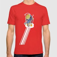 Rocket Bot Mens Fitted Tee Red SMALL
