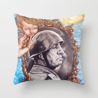 COME BACK OR LEAVE By Da… Throw Pillow