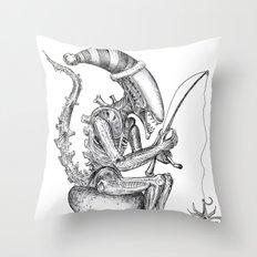 Alien gnome Throw Pillow