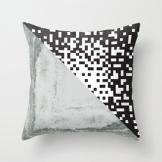 waves/grid #6 Throw Pillow