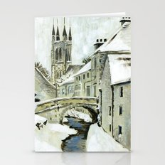 White Yorkshire Winter Stationery Cards